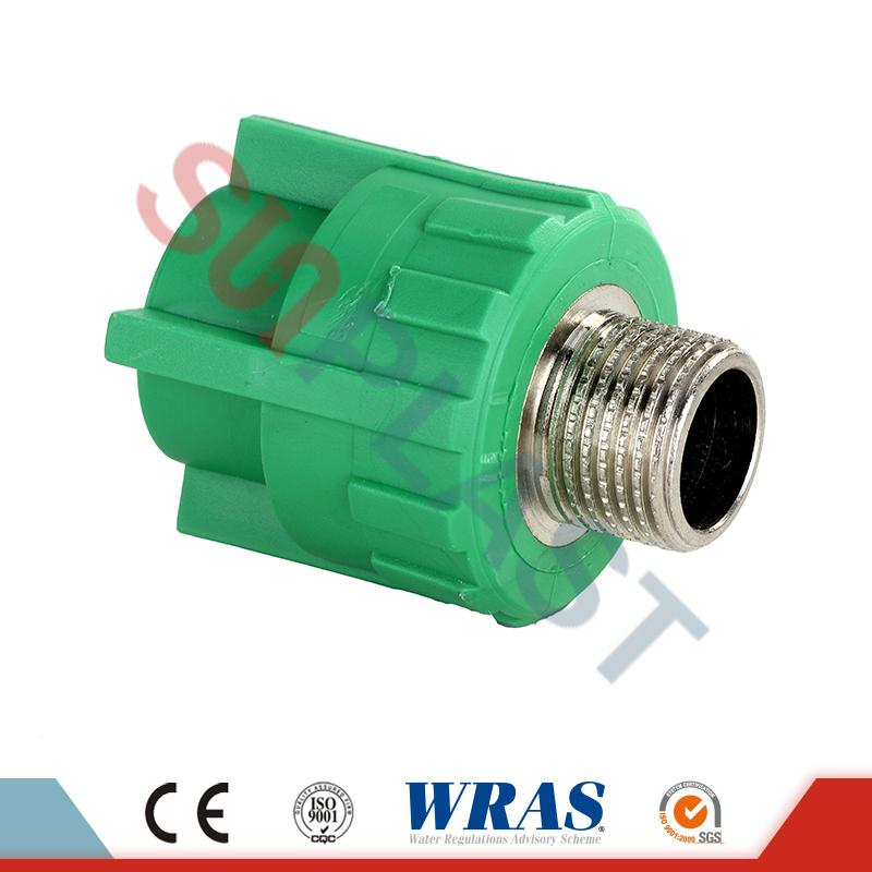 DIN8077 PPR Male Coupler